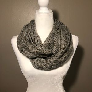 Charlie Paige infinity scarf gray with a shimmer